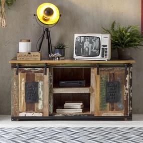 TV-meubel Van Gerecycled Hout - 130x40x63cm.