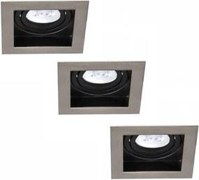 Set van 3 stuks Dimbare LED inbouwspot Modesto 5 Watt Philips 2700K warm wit Kantelbaar
