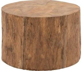 Goossens Bijzettafel Otis, hout teak blank, stijlvol landelijk, 60 x 40 x 60 cm