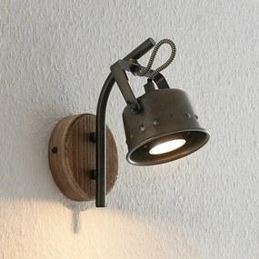 Rubinjo wandspot met houtelement - lampen-24