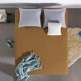 Home Care HC Dubbel Jersey Hoeslaken - Taupe 80/90/100 x 200 cm