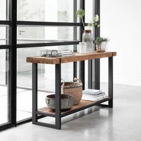DTP Home Timeless Beam Robuuste Sidetable Teak Naturel - 140 X 40cm.