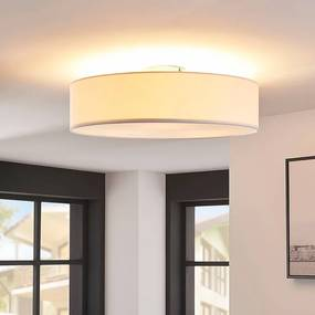 Witte LED-plafondlamp Sebatin van stof - lampen-24