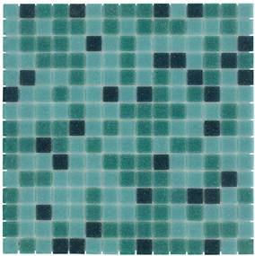 Mozaiektegel Amsterdam Green Mix Soft Grain Glass 322x322