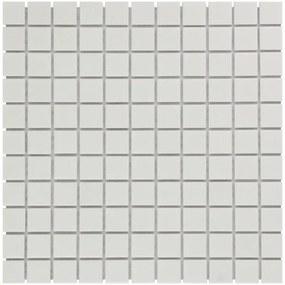 The Mosaic Factory Barcelona mozaïektegel 2.3x2.3x0.6cm wand en vloertegel voor binnen en buiten vierkant porselein wit mat AM230010