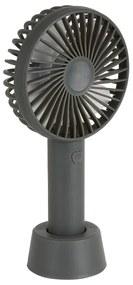 Mini ventilator tafelmodel usb - 21x11x7 cm - grijs