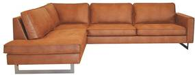 Hoekbank / Loungebank Riverdance | Links | Leer Cognac 03 | 2,17 x 2,90 mtr