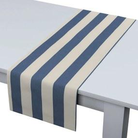 Rechthoekige tafelloper, blauw-wit gestreept