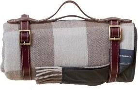 Picknickkleed wol: bruin, beige, blokken