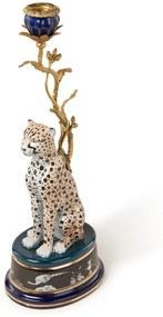 &Klevering Luipaard kandelaar 41 cm