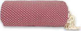 Plaid of grand foulard bordeauxrood katoen ingeweven ruit
