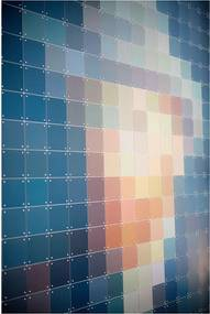 IXXI Petrol Pixel wanddecoratie
