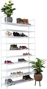 Schoenenrek voor 50 paar - Wit - 10 etages