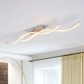 LED plafondlamp Safia in golfvorm met 2 lampjes