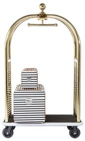Kare Design Vegas Bagage Trolley Goud