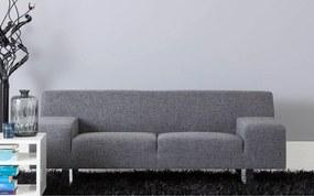 Goossens Bank Milaan grijs, stof, 2,5-zits, modern design