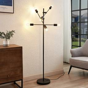 Estar vloerlamp van metaal, 6-lamps - lampen-24