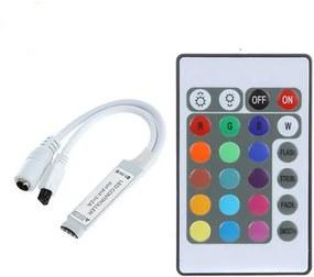 LED Strip RGB Controller Mini 24 Knops incl. IR afstandsbediening
