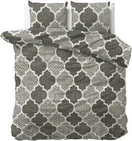 DreamHouse Bedding William - Verwarmend Flanel - Grijs 1-persoons (140 x 200/220 cm + 1 kussensloop) Dekbedovertrek
