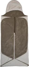 Organic Wrap Blanket Trendy Wrapping 90x110cm - Warm Brown - Babydeken