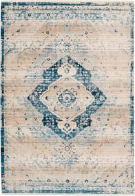 Dejaroom   Vloerkleed Deep Blue lengte 160 cm x breedte 230 cm x hoogte 0.5 cm cremekleurig, blauw vloerkleden bovenkant:   NADUVI outlet