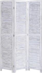 Kamerscherm met 3 panelen 105x165 cm hout grijs