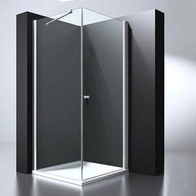 Douchecabine Erico Vierkant Draaideur 100x100x200cm Antikalk Helder Glas Chroom Profiel 6mm Veiligheidsglas Easy Clean