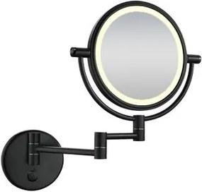 Home scheerspiegel wandmodel LED verlichting mat zwart