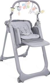 Polly Magic Relax Hoge Stoel - Graphite - Kinderstoelen