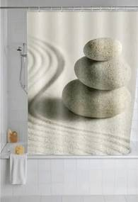 Douchegordijn Wenko Polyester Poly Sand Stone Multi 180x200cm Easy Clean
