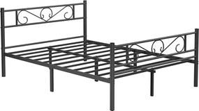 Nancy's Centralia Tweepersoonsbedframe - Metalen Bedframes - Zwart - Past op een matras van 140 x 190 cm