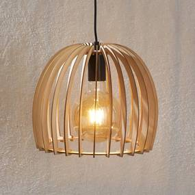 Houten hanglamp Bela, Ø 30 cm - lampen-24