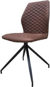 Viverne | Eetkamerstoel Echo breedte 45 cm x diepte 49 cm x hoogte 91 cm bruin eetkamerstoelen kunststof, metaal meubels | NADUVI outlet