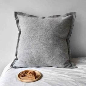 Kussen lichtgrijs, wol, Great, 60 cm