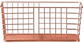 Opbergmand Riga - koper - 30x16,5x20 cm - Leen Bakker