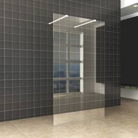 BWS Vrijstaande Inloopdouche Pro Line Helder Glas met Twee Stabilisatiestangen Mat Wit (13 varianten)