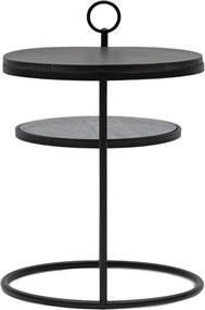 Rivièra Maison - Bella Side Table Round - Kleur: zwart