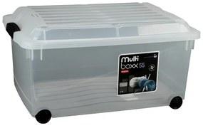 Curver jumbo multiboxx - 55 liter - transparant