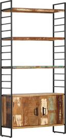 Boekenkast met 4 schappen 80x30x180 cm massief gerecycled hout