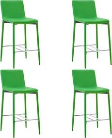 Barstoelen 4 st kunstleer groen