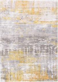 Louis de Poortere   Vloerkleed Sea Bright Sunny 8715 breedte 60 cm x lengte 90 cm grijs, geel vloerkleden 85% katoen, 15%   NADUVI outlet