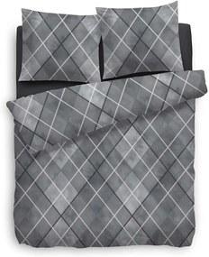 Heckett & Lane dekbedovertrek Crispin - grijs - 240x200/220 cm - Leen Bakker