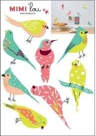 Muurstickers vogels just a Touch - Muurdecoratie