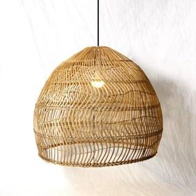 Rotan / Rieten Hanglamp, Handgemaakt, Naturel, ⌀60 cm