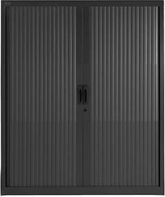 Roldeurkast Proline 145 x 120 cm incl. 3 legborden - Zwart