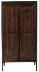 Kare Design Brooklyn Walnut Houten Kledingkast - 100x58x194cm.