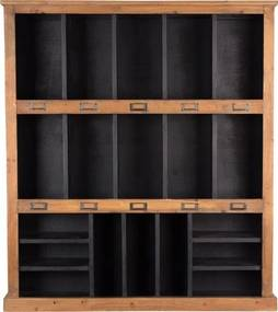 Dutchbone | Wandrek Rustic lengte 97 cm x breedte 20 cm x hoogte 110 cm multicolour wandkasten hout meubels kasten | NADUVI outlet