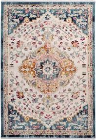 Dejaroom | Vloerkleed Anouk 200 x 290 cm, poolhoogte 5 mm wit, blauw vloerkleden 100% polypropyleen / onderzijde: vloerkleden | NADUVI outlet