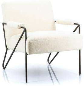 Eleonora Wendy Retro Design Fauteuil Wit Merino