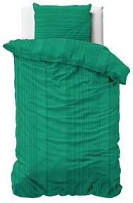 Fresh & Co Yorkshire - Groen 1-persoons (140 x 200/220 cm + 1 kussensloop) Dekbedovertrek